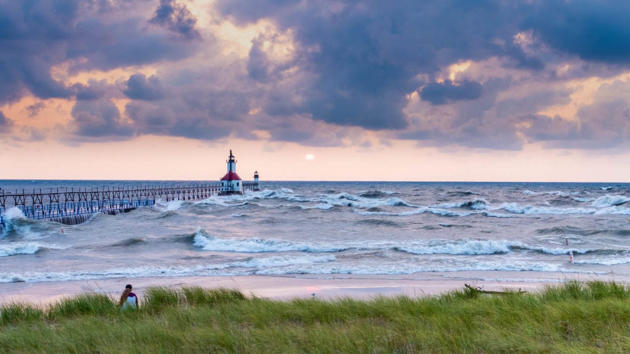 St. Joseph Lighthouse and Waves