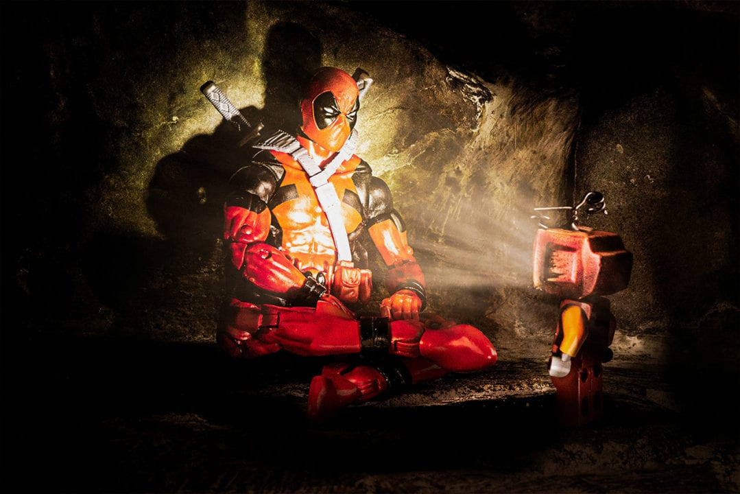 Toy photograph featuring Deadpool